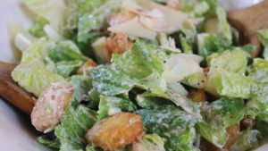 Caesar Salad with Homemade Croutons and Fresh Local Parmesan Recipe