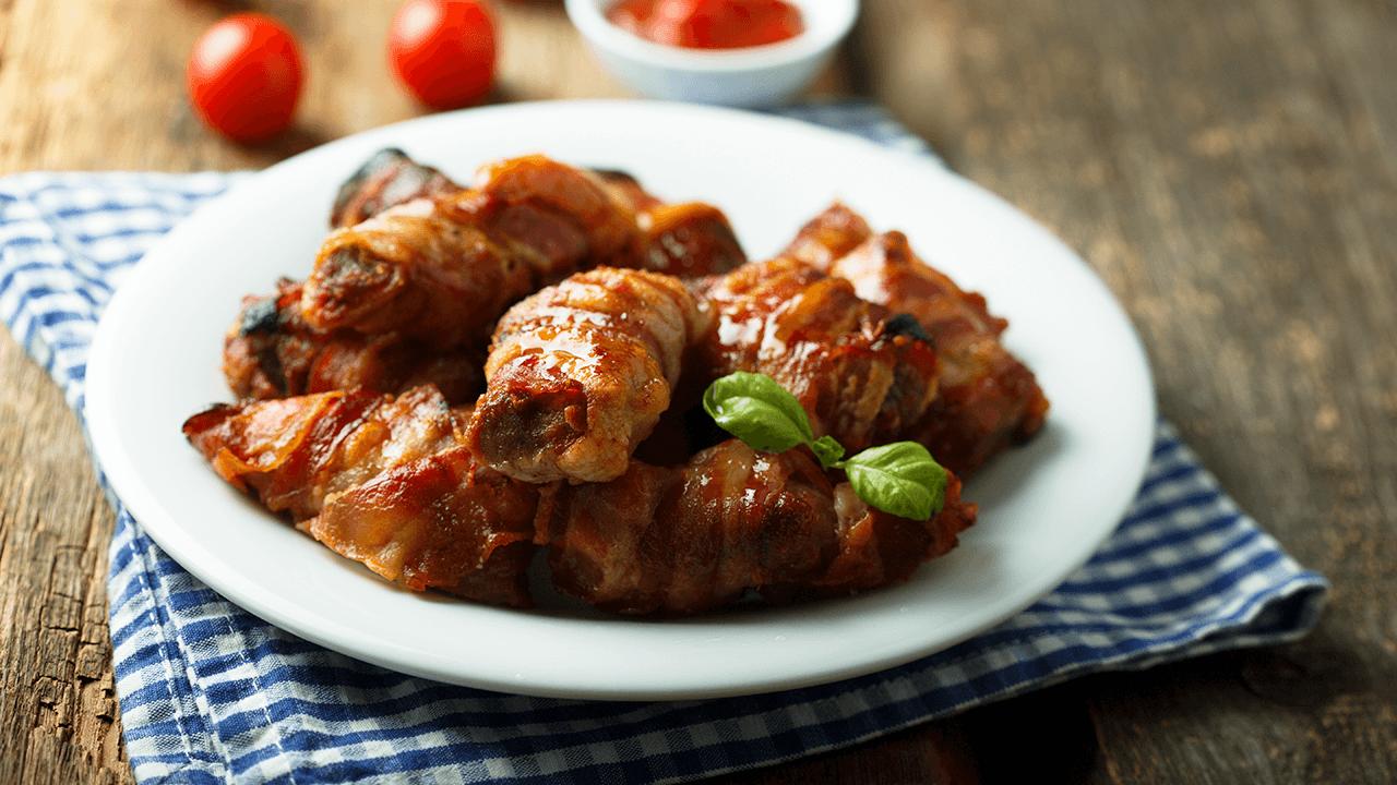 Crabmeat Bacon Rolls Recipe